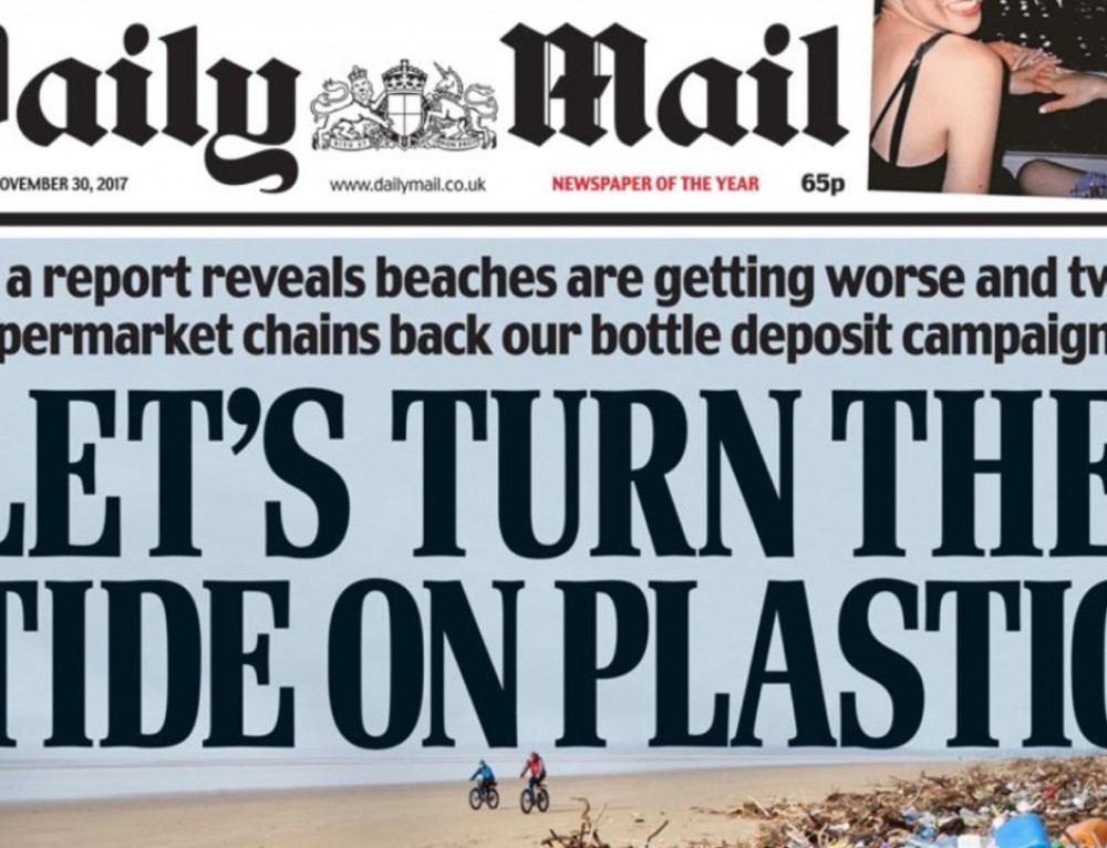 Daily Mail joins the fight against plastic pollution