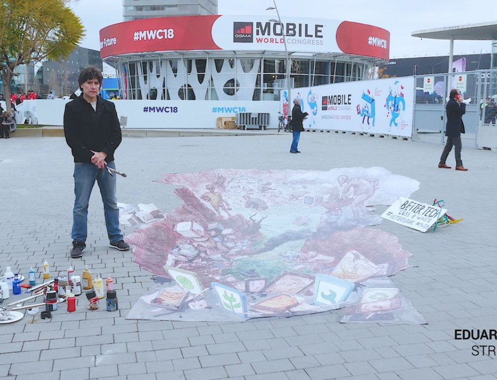 3D pavement art vs the tech industry